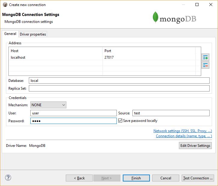 MongoDB – DBeaver